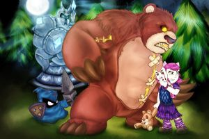 Tibbers and Annie by osoalex