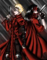 Vash - Vincent:The Red Gunmen by CelebrenIthil