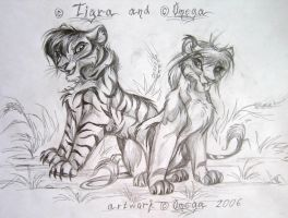 Tigra and Omega by OmegaLioness
