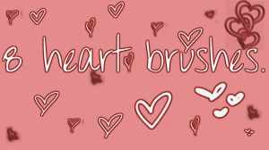 Brushes of 8 hearts by myonlyreason07