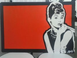 Audrey Hepburn portrait pop art by IAJusty