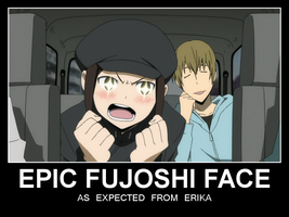 EPIC FUJOSHI FACE by chaotrix