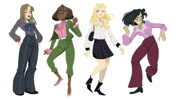 some 60s 70s peeps by WooleyWorldHQ