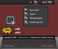 Token ActCtr Systray for Win 7 by vi20RickrMetal12us