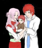 The Sabaku Family -Colored- by LoveShinobi