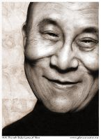 H.H. the Dalai Lama by gforcecreative
