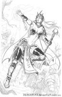 Elf Sorceress (Rough sketch) by debuhista