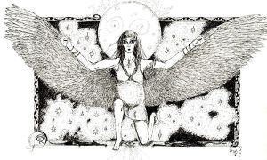 Winged isis by Willowsmummy