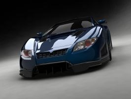 Concept Coupe_front by nahiyankhan