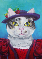 Cat Portrait by amandathompson