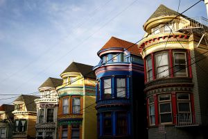 Colored Houses by MaximePerrin