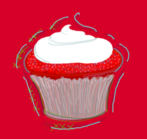 Red Velvet Cupcake by Hnilmik