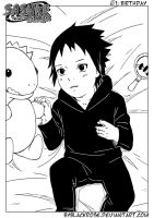 Cover with the baby Sasuke. by byBlackRose