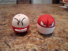 Voltorb and Electrode by plutoniumcaterpillar