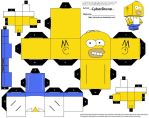 Cubee - Homer Simpson by CyberDrone