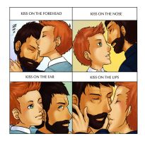 Tintin x Haddock - Kissy Meme by KarniMolly