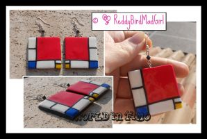 Mondrian Collection: Earrings by ReddyBirdMadGirl