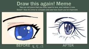 Draw This Again Meme: Blue Eye by Madelihn