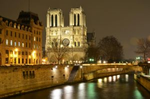 Notre Dame at night by marschall196