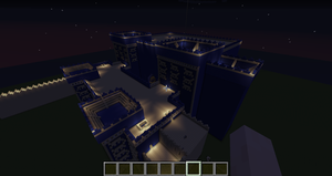 MineCraft Babylon - Gates of Ishtar Night by benjamin1995