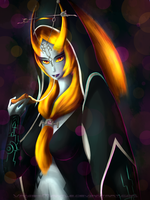 Midna - Eats some Pizza by Vanish-Mantle