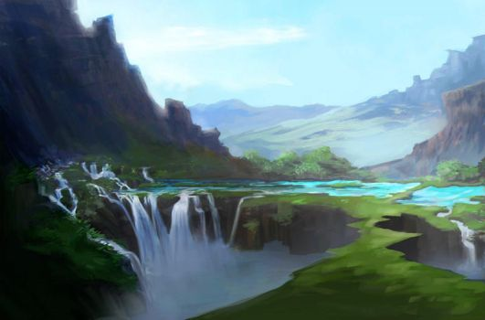 Land Before Time Painting by ruebird