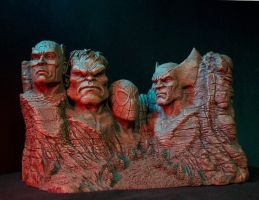 Marvel Heroes and Villains bookends by GabrielxMarquez
