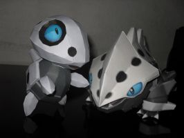 Aron e Lairon papercraft by MichelCFK