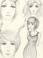 Girl Sketches by WillowKid