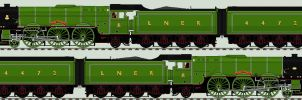 LNER A3 liveries - 4472 'Flying Scotsman' - 1968 by 2509-Silverlink