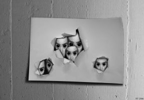 Faces on paper by Boias