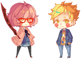 kyokai no kanata Keychain Set by BottleWonderland