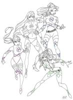 X-Women Lineart by hwoarang1986