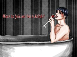 care to join me for a drink, diederich? by demonmilk