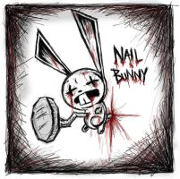 Nail Bunny - cute and bloody by Slash-Free-JCV