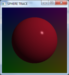 My Ugly Red Ball Raytracer written in Small Basic by rob-best