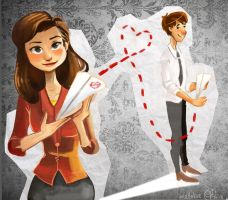 Paperman and Paperplanes by KimNipp