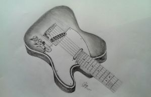 Fender Telecaster Drawing by j1mmorrison