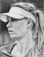 Maria Sharapova (pencil) by Abremson