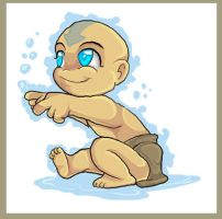 Chibi Baby Aang by Cameo-Chan