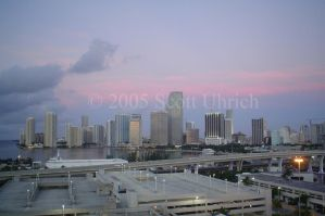 Miami Skyline Red by vbcsgtscud