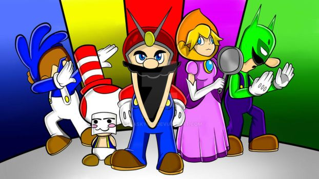 Mighty Morphin Mario Rangers by MegaSky473