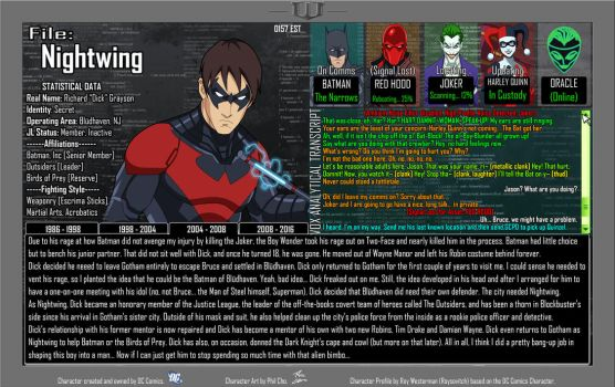 Oracle Files - Dick Grayson 2004-2008 by Roysovitch