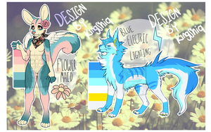 Flower Maid and Blue Electric Lighting Auction by kingshiq