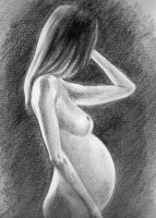Pregnant nude by peter-san