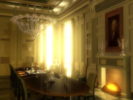 White House Dining Room by artcreator329