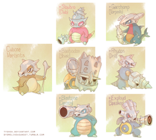 Cubone Variants by Tyshea