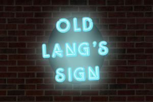 Old Lang's Sign by groundhog22