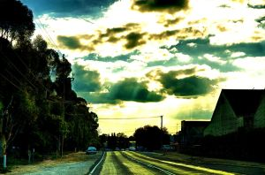 Sunrays on the road by Mutilator-Of-Cookies