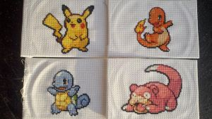 Pokemon stitchings by starrley